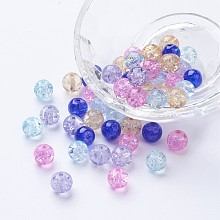 Baking Painted Crackle Glass Beads DGLA-X0006-8mm-06