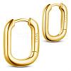 SHEGRACE 925 Sterling Silver Hoop EarringsJE834B-01-1