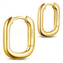SHEGRACE 925 Sterling Silver Hoop Earrings JE834B-01