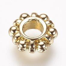 Alloy European Beads PALLOY-F163-08G