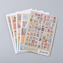 Postage Stamp Shape DIY Paper Label Paster Picture Stickers AJEW-L058-50