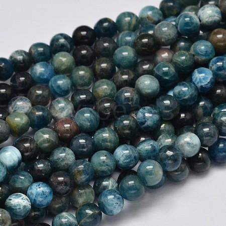 Round Natural Apatite Beads StrandsG-K068-02-6mm-1