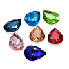 Faceted Drop Glass Pointed Back Rhinestone Cabochons RGLA-A008-18x25mm-SM-2