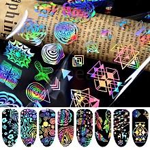 Shiny Laser Nail Glitter Transfer Foil Nail Stickers MRMJ-E001-53