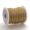 Soldered Brass Cable Chains KK-S332-21G-3