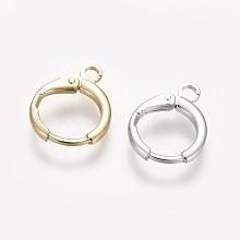 Brass Huggie Hoop Earring Findings KK-L179-04