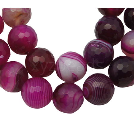 Natural Striped Agate/Banded Agate BeadsAGAT-10D-1