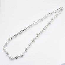 Alloy Barb Wire Necklaces NJEW-R254-01B-P