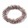 Faceted Transparent Glass Beads Stretch BraceletsBJEW-S144-001B-03-2