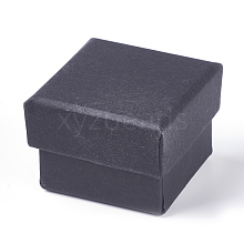 Kraft Cotton Filled Cardboard Paper Jewelry Gift Boxes CBOX-WH0003-01A