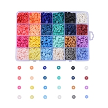 24 Colors Eco-Friendly Handmade Polymer Clay Beads CLAY-X0011-01