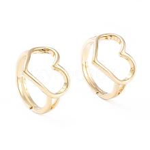 Adjustable Brass Finger Rings RJEW-F102-13G