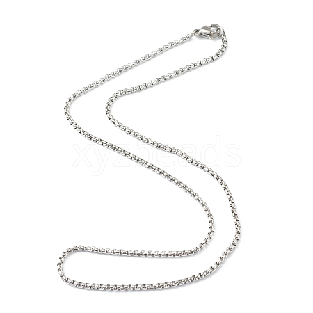 304 Stainless Steel Box Chain NecklacesSTAS-G244-80A-P-1