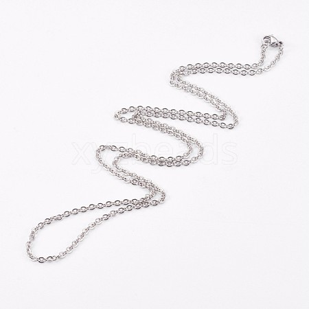 304 Stainless Steel Cable Chain NecklacesNJEW-G270-01P-1