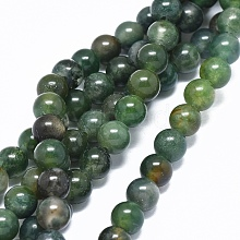 Natural Moss Agate Beads Strands G-L476-05