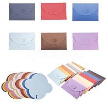 Retro Colored Pearl Blank Mini Paper Envelopes DIY-WH0041-A-M
