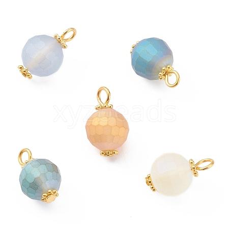 Electroplate Glass Beads PendantsPALLOY-JF00657-1