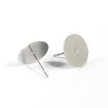 304 Stainless Steel Stud Earring Settings STAS-G170-03P
