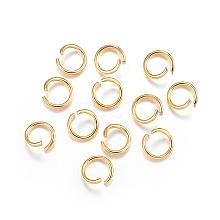 304 Stainless Steel Open Jump Rings STAS-F084-23G