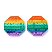 Silicone Push Pop Bubble Fidget Sensory Toy DIY-J004-E05
