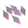 MIYUKI® & TOHO® Handmade Japanese Seed Beads LinksSEED-E004-B21-2