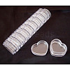 Heart Shape Plastic Beads Storage Container X-C022Y-1