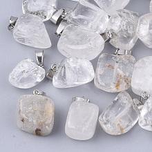 Natural Quartz Crystal Pendants G-Q996-10