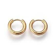 304 Stainless Steel Huggie Hoop Earrings EJEW-O087-06C