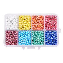 Mixed Style 6/0 Round Glass Seed Beads SEED-PH0006-4mm-11