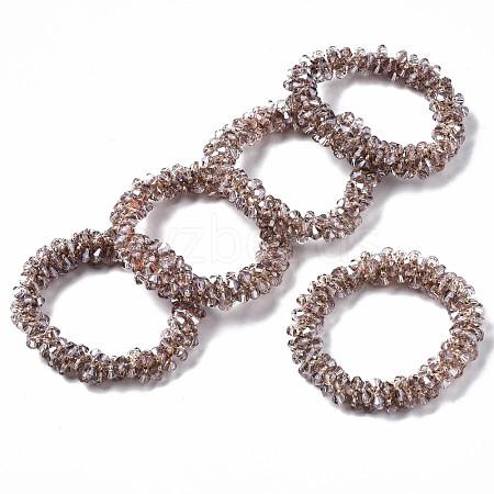 Faceted Transparent Glass Beads Stretch BraceletsBJEW-S144-001B-03-1