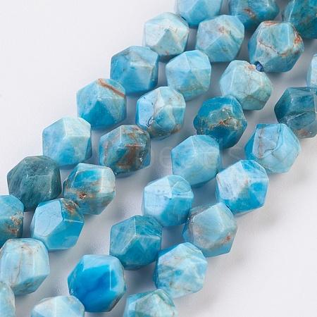 Natural Apatite Beads StrandsG-F568-025-8mm-1