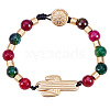 Alloy Beaded Bracelets BJEW-Q695-06MG-NR-3