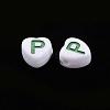 Opaque White Acrylic BeadsMACR-Q242-004-2