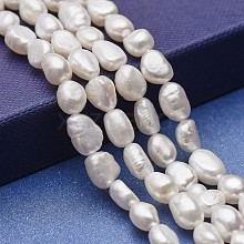 Natural Cultured Freshwater Pearl Beads Strands PEAR-P060-25C