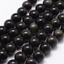 Natural Obsidian Beads Strands G-D838-8mm-04