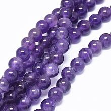 Natural Amethyst Beads Strands G-L476-09