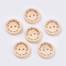 Wooden Buttons BUTT-K007-08B